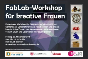 Flyer FabLab-Workshop für Frauen